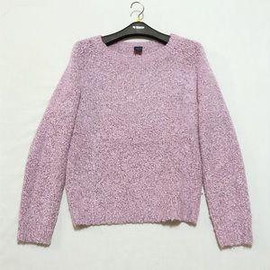 GAP Relaxed Crewneck Sweater Purple